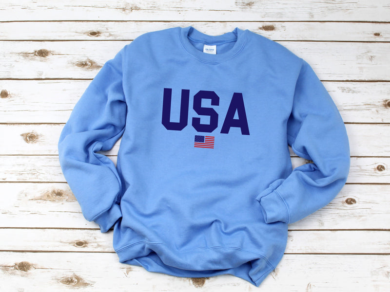 USA shirt, 4th of july sweatshirt, womens 4th of july, america shirt, 4th of july, patriotic shirt, red white and blue, 4th of july pullover