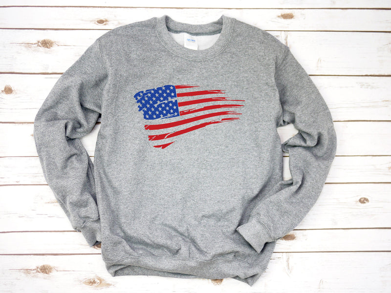 flag shirt, 4th of july sweatshirt, USA shirt, womens 4th of july, 4th of july, patriotic shirt, red white and blue, 4th of july pullover