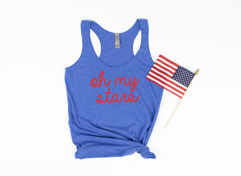 oh my stars tank - patriotic tank - usa tank - 4th of july tank - womens 4th of july shirt - 4th of july shirt women - fourth of july tank