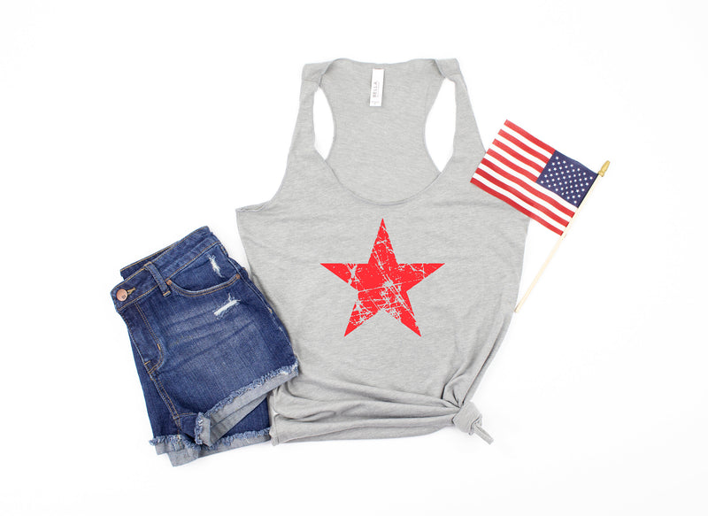 distressed star tank - star shirt - 4th of july tank -  womens 4th of july shirt - 4th of july shirt women - fourth of july tank