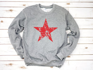 distressed star sweatshirt, 4th of july sweatshirt, USA shirt, womens 4th of july, 4th of july, patriotic shirt, 4th of july pullover