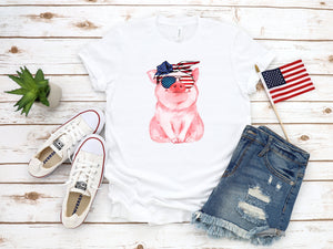 cute 4th of july shirt, patriotic pig, 4th of july pig shirt, memorial day shirt, fourth of july shirt, 4th of july shirt, patriotic shirt