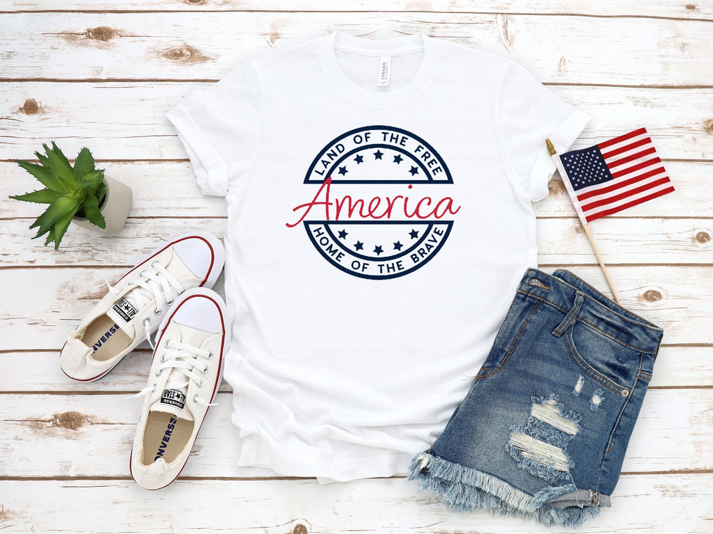 america shirt, memorial day shirt, fourth of july shirt, 4th of july shirt, patriotic shirt, red white and blue shirt, cute 4th of july