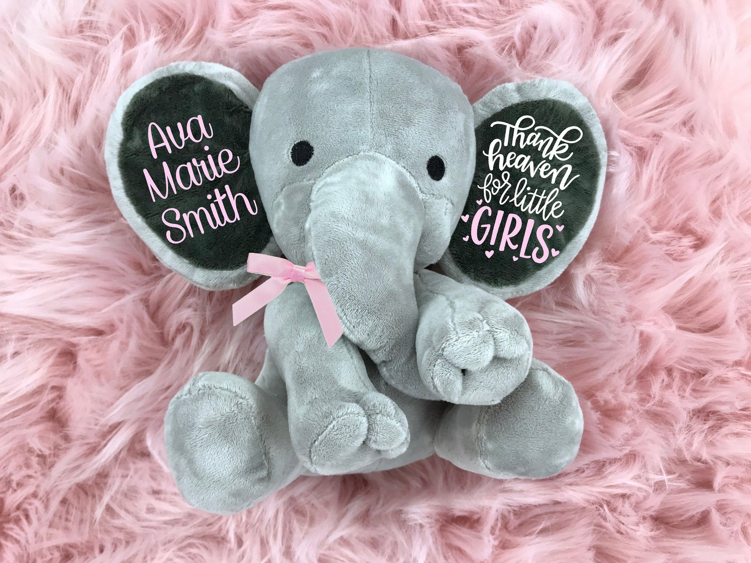 christening //baby shower //Birthday Keepsake Personalised Elephant Wedding