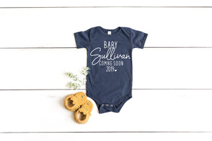 baby coming soon, baby announcement, pregnancy announcement, personalized baby announcement, pregnancy reveal, new baby announcement