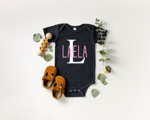 Personalized baby outfit, pregnancy announcement, personalized baby announcement, pregnancy reveal, new baby girl announcement