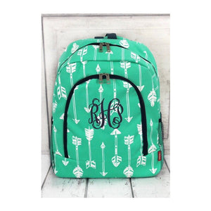 girls backpack, cute backpack, school backpack, arrow bag, girls lunch bag, arrow lunch box monogram backpack, kids backpack, backpack kids