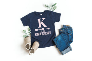 kindergarten shirt, girls kindergarten shirt, girls back to school outfit, back to school shirt, kindergarten tshirt, first day of school