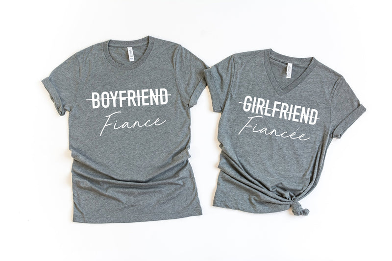 matching fiance shirts - matching couple shirts - fiance t-shirt set - couples shirts -soon to be bride shirt - engagement gift idea