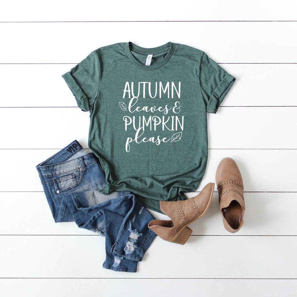 Womens fall shirt, fall tshirt, hello fall shirt, hello autumn tee, autumn leaves, fall womens tee, pumpkin womens tee, pumpkin shirt