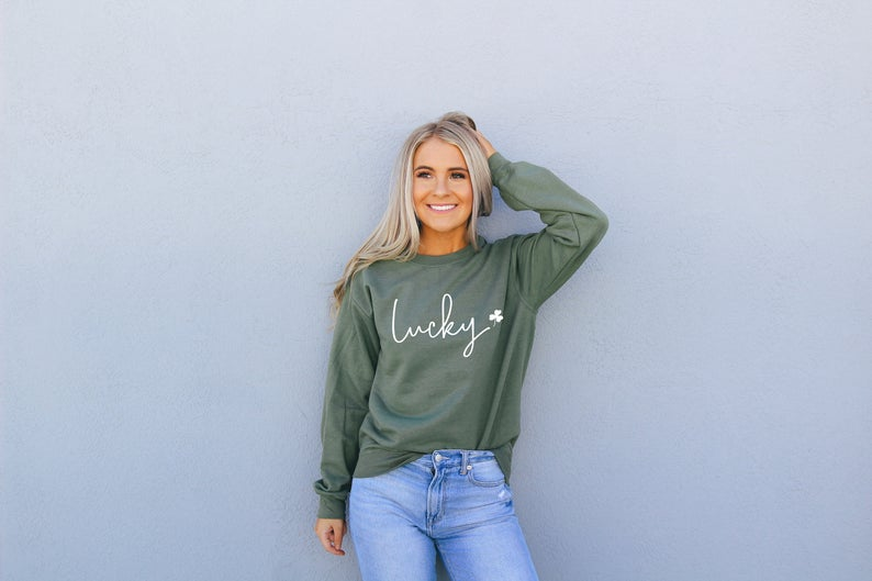 Women's Saint Patricks Day Lucky Sweatshirt