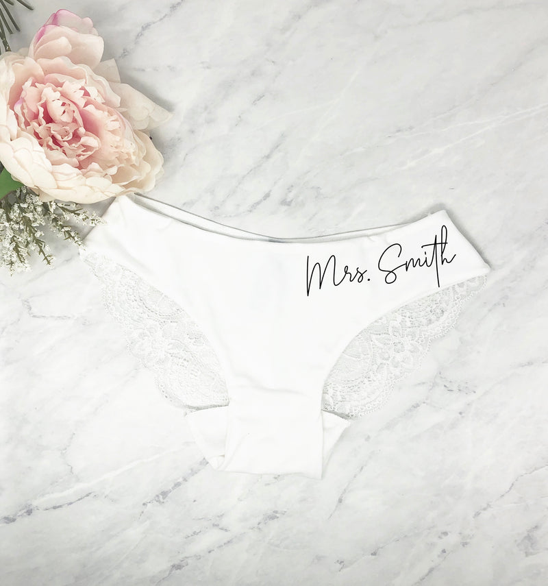 Personalized Lace Underwear