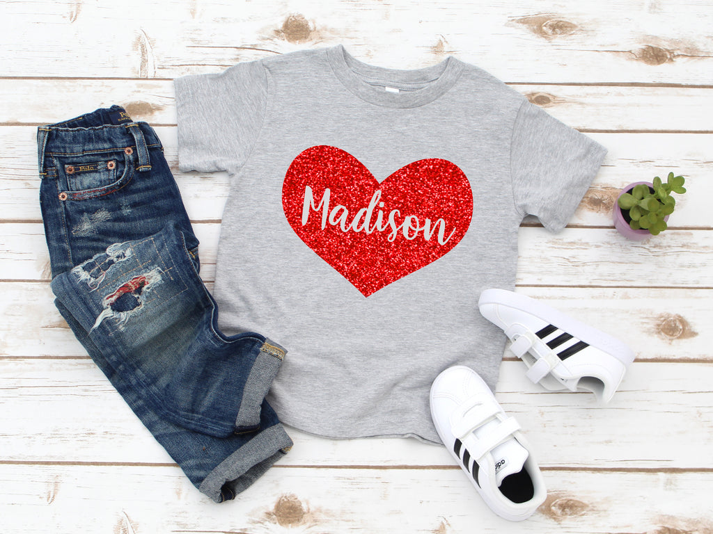 valentine kids - Valentine's shirt for girls  - girls valentines day shirt - personalized valentines day shirt - heart shirt - glitter heart