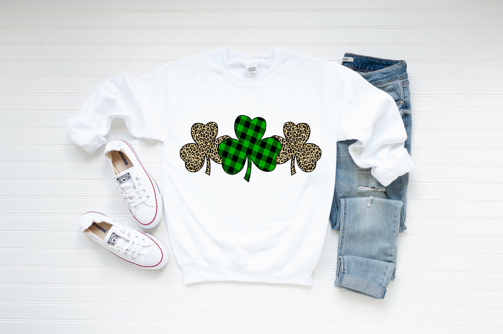 Glitter & Cheetah Shamrocks