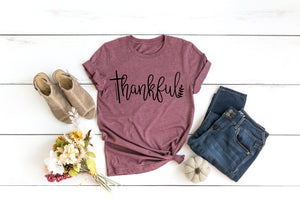 Heather Autumn Thankful T-Shirt