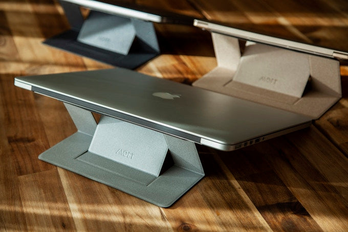 Moft the world's first invisible laptop stand