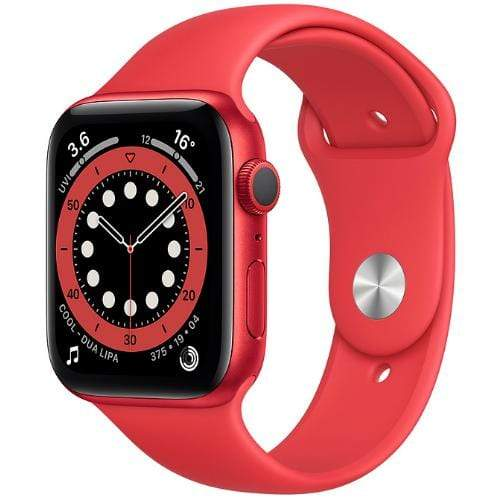 Apple Smart Watch Product Red Apple Watch Series 6, GPS 44mm Product Red Aluminium Case with Sport Band