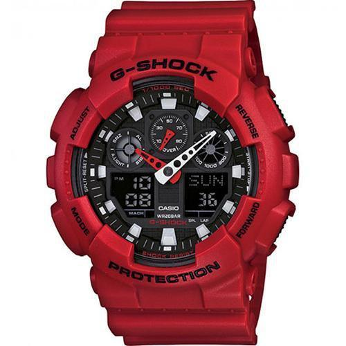 Casio G-Shock Standard Analog-Digital Watch GA-100B-4ADR - Front View