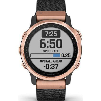 Garmin Smart Watch Black Garmin Fenix 6S Sapphire Edition Rose Gold-tone with Heathered Nylon Band