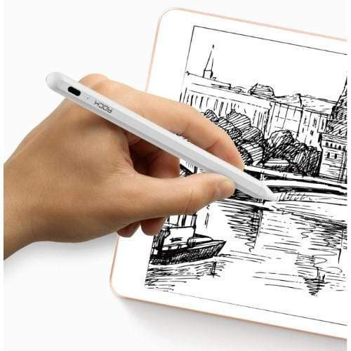 Rock Original Accessories White Rock Stylus Pen B02 Active Magnetic Capacitive Pen for iPad (Australian Stock)