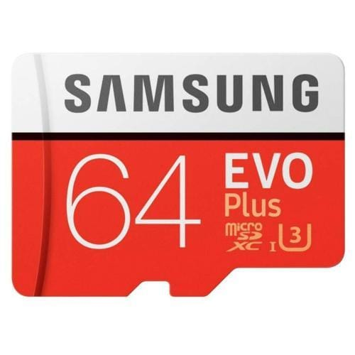 Samsung EVO Plus MicroSDXC 64GB with SD Adapter MB-MC64GA/APC