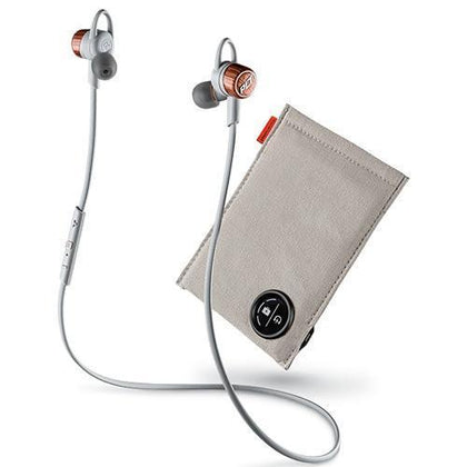 Plantronics Headphones Copper/Orange Grey Plantronics BackBeat Go 3 Wireless Bluetooth In-Ear Headset With Charging Case