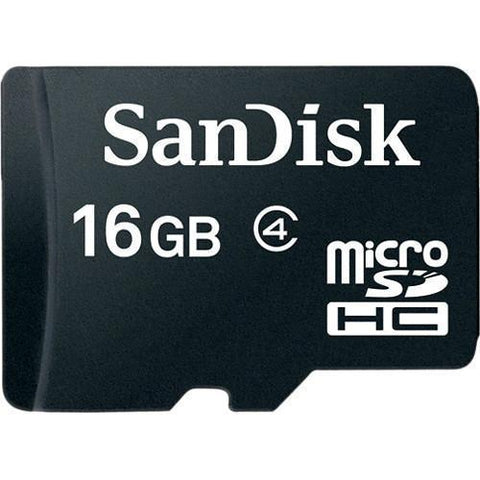Memory Cards - SanDisk MicroSD Class 4 16GB (with Adaptor)