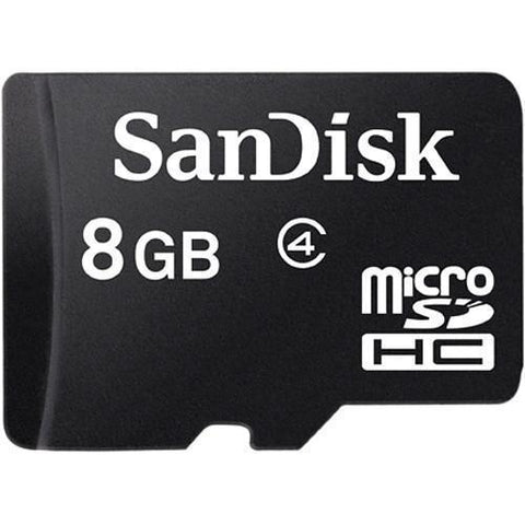 Memory Cards - SanDisk MicroSD Class 4 8GB (with Adaptor)