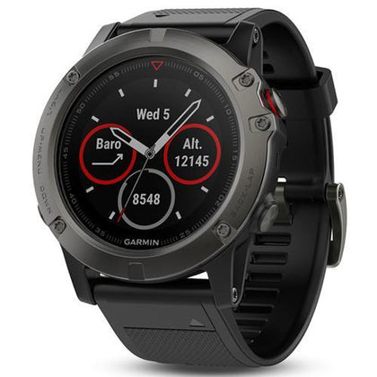 Garmin Smart Watch Slate Grey Garmin Fenix 5X (Australian Stock 51mm Case Sapphire Edition with Black Band)