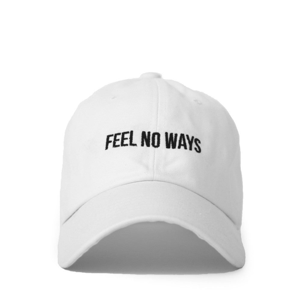 "White ""Feel No Ways"" Cap"