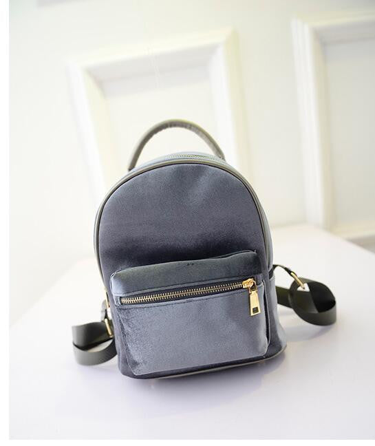 Discounts! Winter Velvet bag Sweet Lady Mini Backpack For Women Teenage Girl Student School shoulder bag Backpack Free Shipping