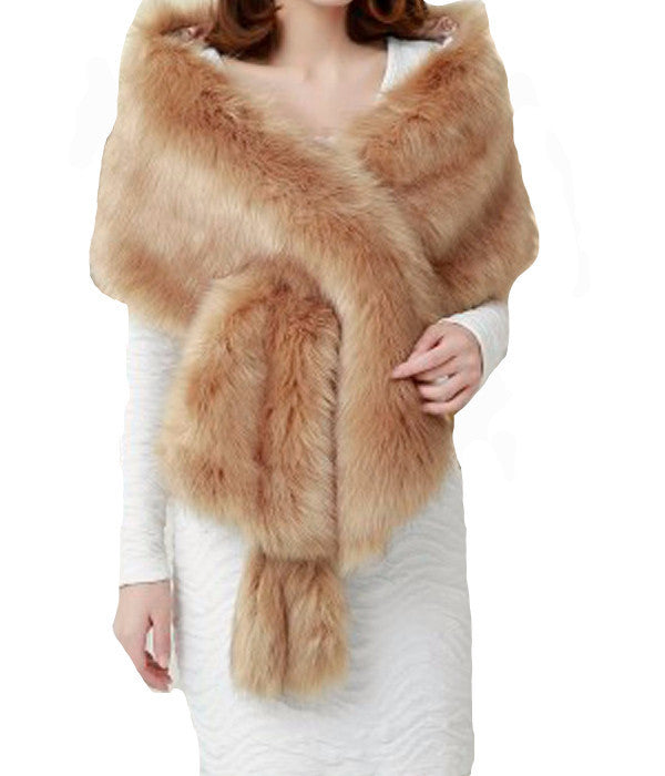 Long Faux Fur Shawl