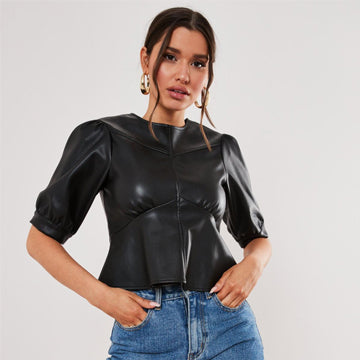 A Lavish Leather Top – The Stylish Way!
