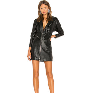 Women Leather Dress