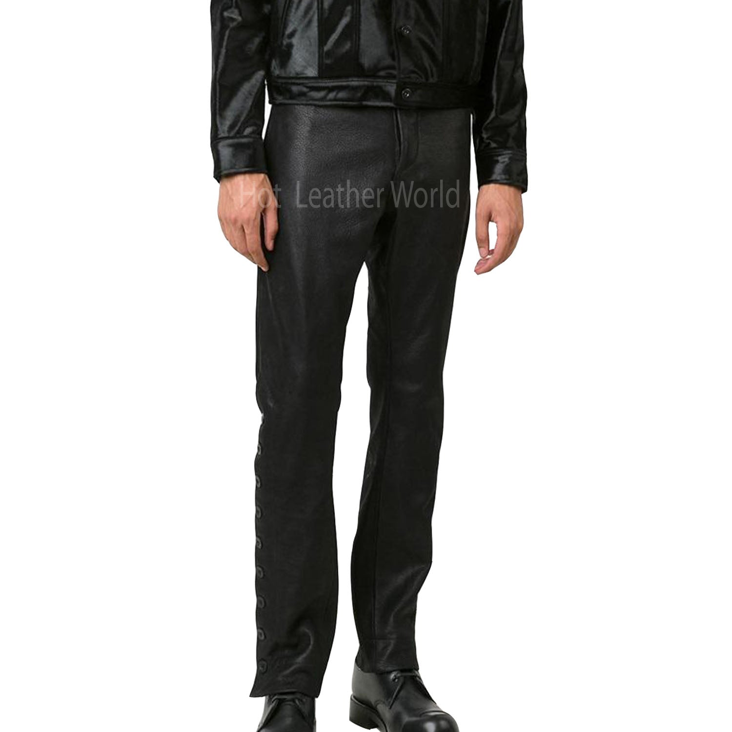 Designer Men Leather Pant -  HOTLEATHERWORLD