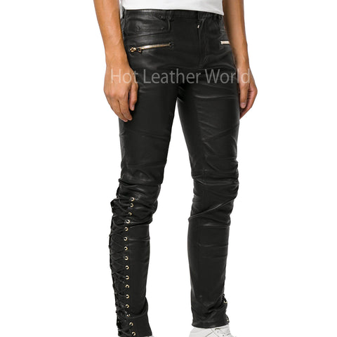Trendy Men Leather Pant -  HOTLEATHERWORLD
