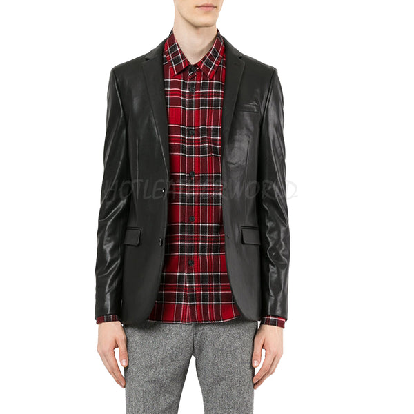 Classic Lamb Skin Men Blazer -  HOTLEATHERWORLD