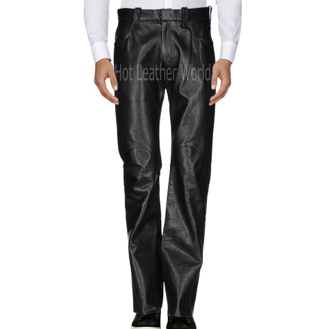 Classic Style Men Leather Pants -  HOTLEATHERWORLD