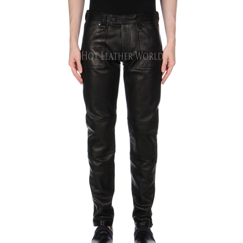 Designer Style Men Leather Pants -  HOTLEATHERWORLD