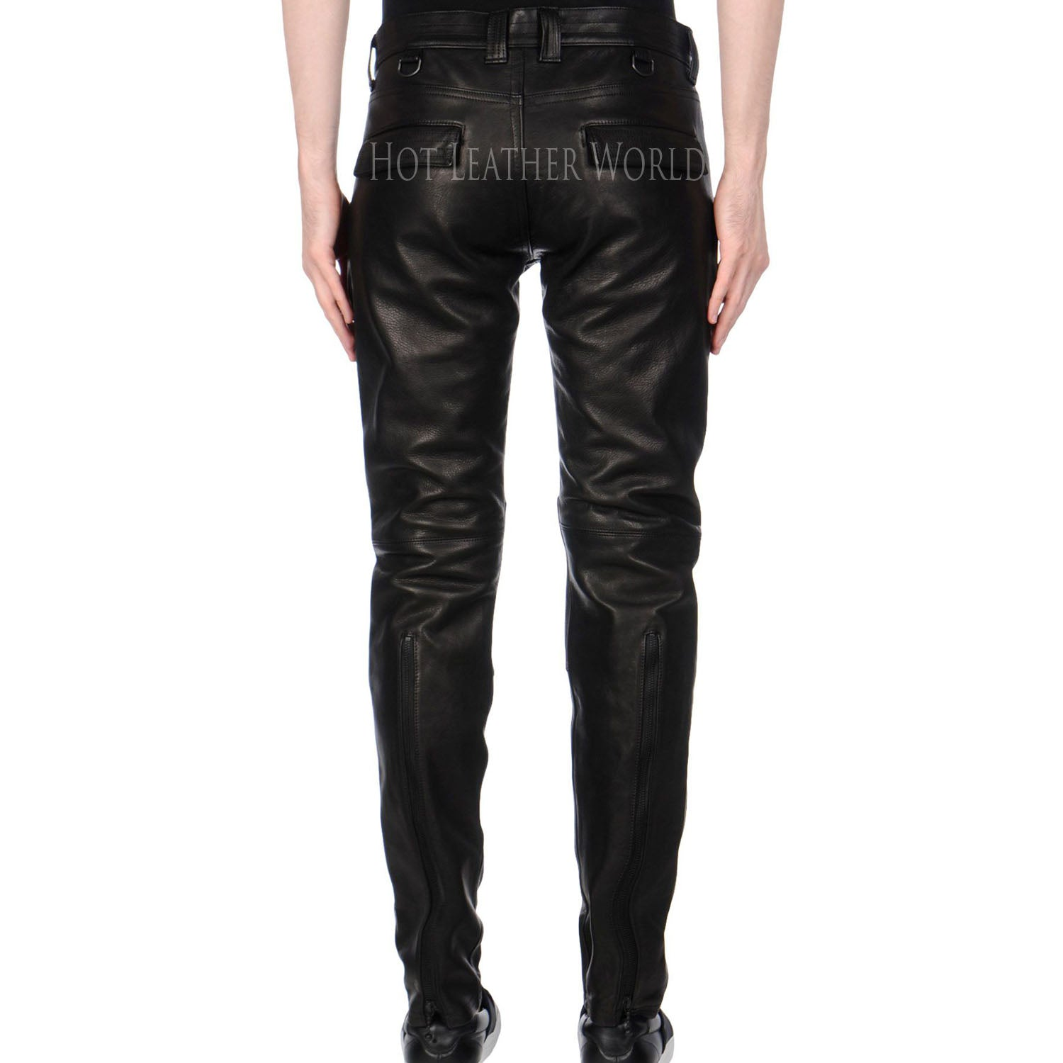Lamb Skin Leather Pants -  HOTLEATHERWORLD