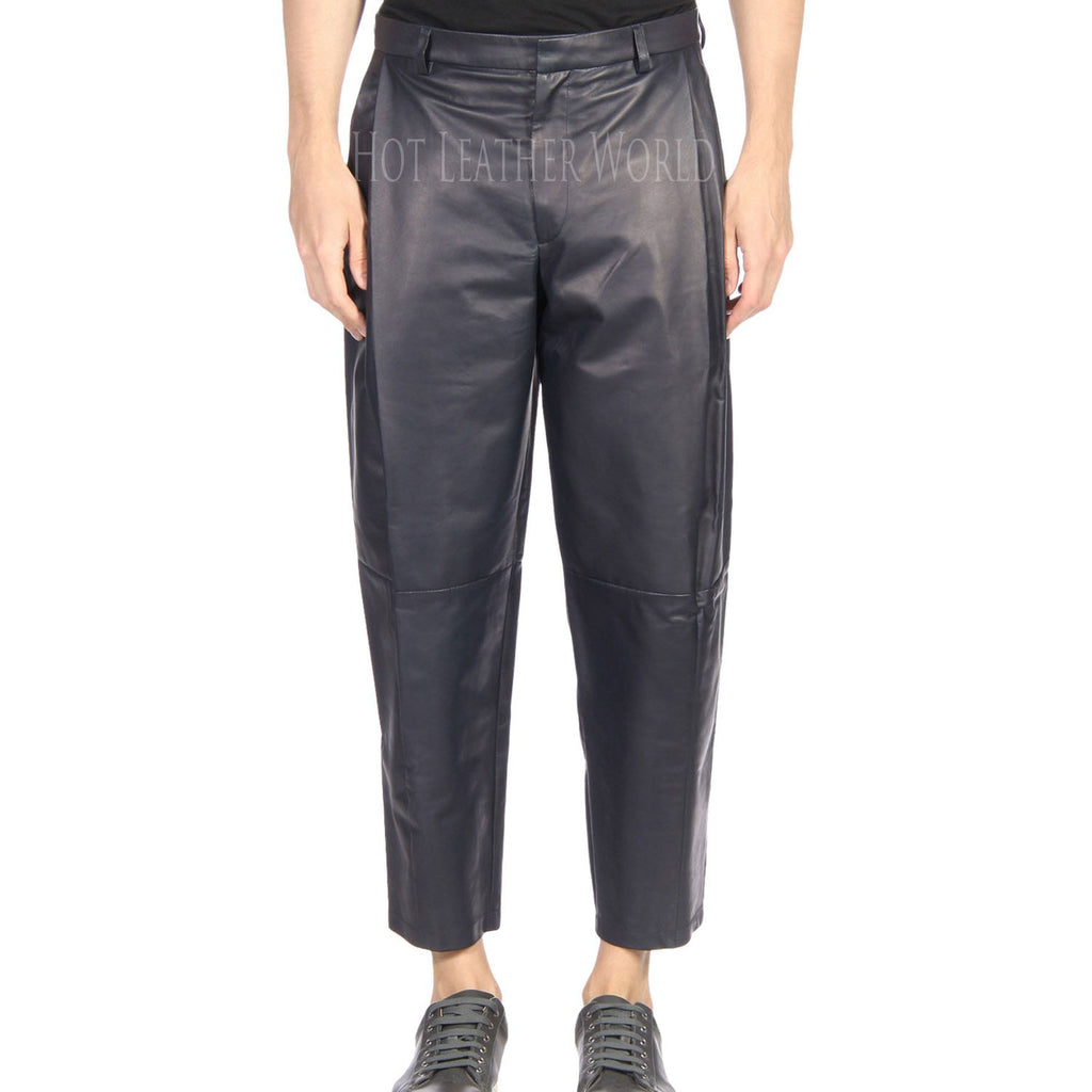 Loose fit Leather Pant For Men