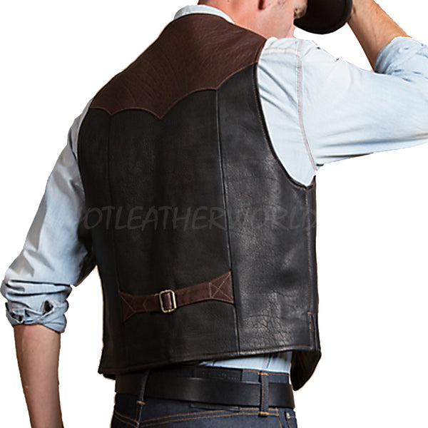 Designer Style men Leather Vest -  HOTLEATHERWORLD