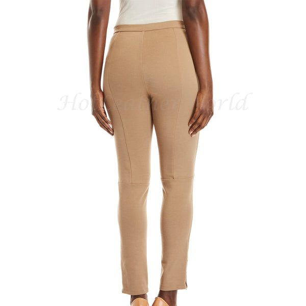 Nude Suede Leather Pants For Women -  HOTLEATHERWORLD