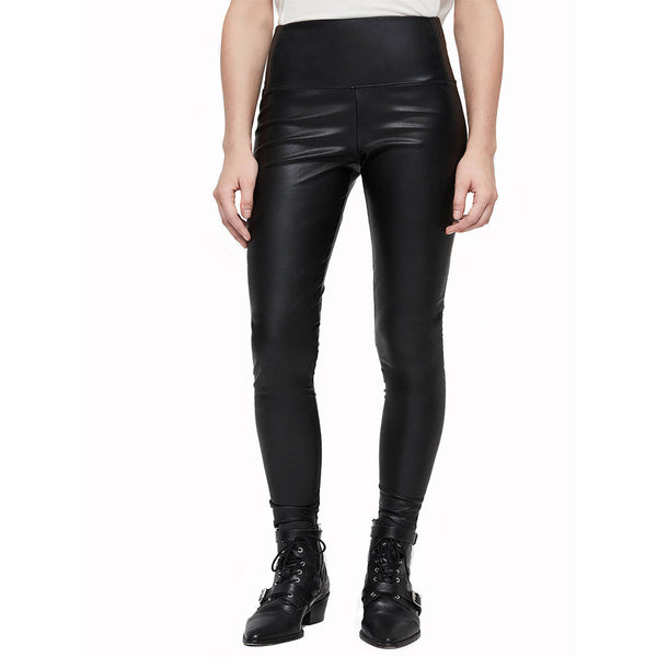 High Waist Leather Leggings For Women -  HOTLEATHERWORLD
