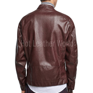 CLASSIC STYLE MEN LEATHER BOMBER JACKET -  HOTLEATHERWORLD