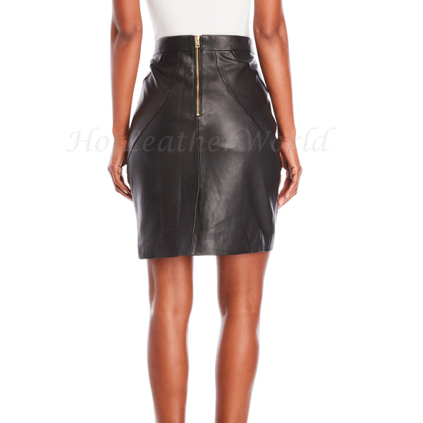 Leather Pencil Skirt For Women -  HOTLEATHERWORLD