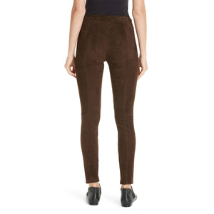Suede Leather Women Legging -  HOTLEATHERWORLD