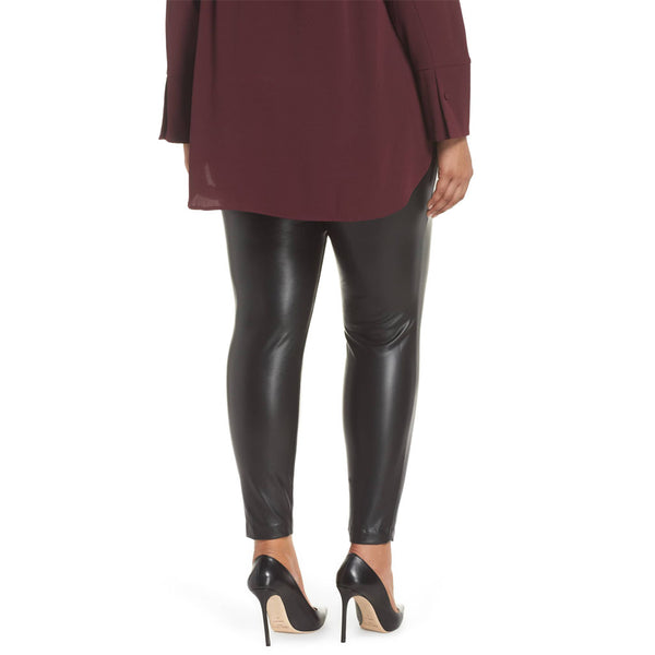 Plus  Size Women Skinny Leather Pants -  HOTLEATHERWORLD