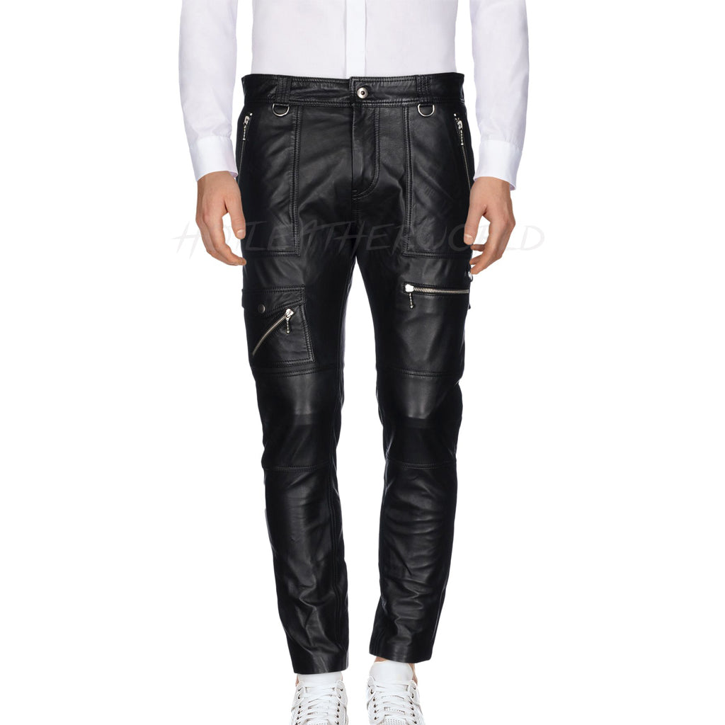 New Style Men Leather Pants -  HOTLEATHERWORLD