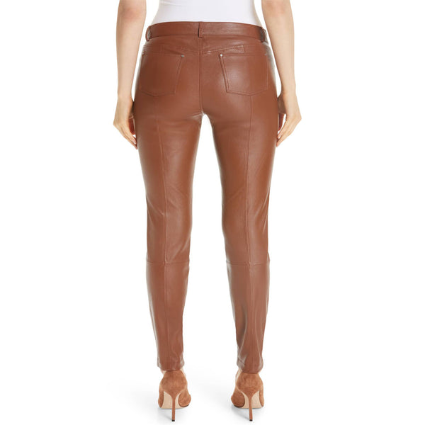 Five-Pocket Style Women Leather Pants -  HOTLEATHERWORLD
